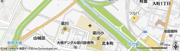 福島県伊達市梁川町(北本町)周辺の地図