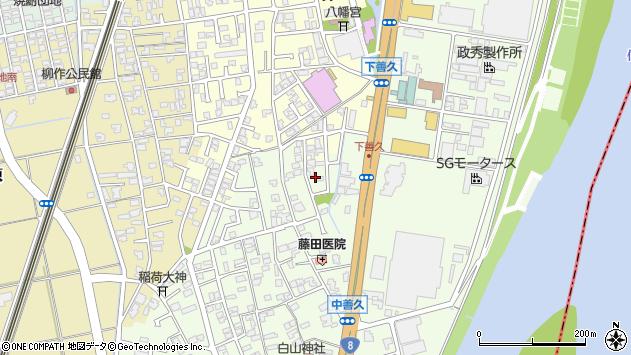 〒950-1102 新潟県新潟市西区善久の地図