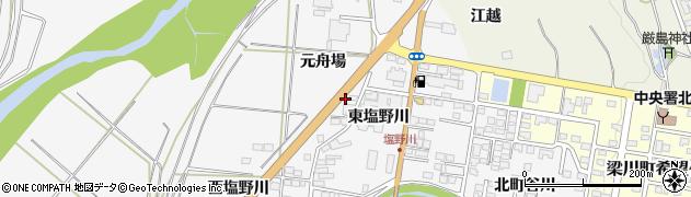 福島県伊達市梁川町(元舟場)周辺の地図