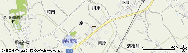 福島県伊達市梁川町八幡(原)周辺の地図