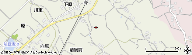 福島県伊達市梁川町八幡(清後前)周辺の地図