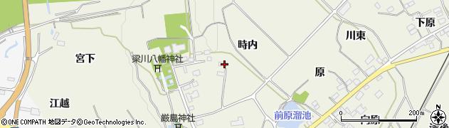 福島県伊達市梁川町八幡(時内)周辺の地図