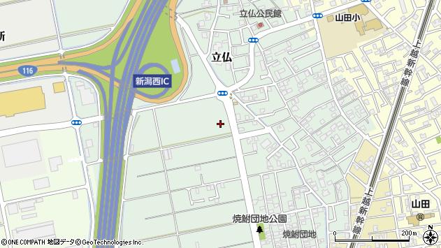 〒950-1103 新潟県新潟市西区立仏の地図