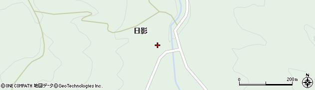 福島県伊達市梁川町山舟生(日影)周辺の地図