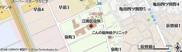 新潟県新潟市江南区周辺の地図