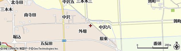 福島県伊達郡国見町塚野目外畑周辺の地図