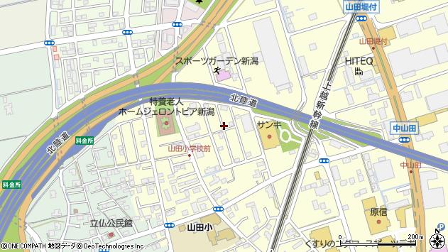 〒950-1101 新潟県新潟市西区山田の地図