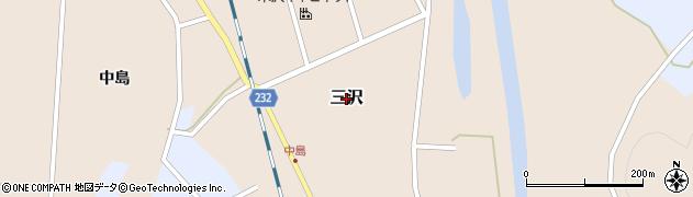 山形県米沢市三沢周辺の地図