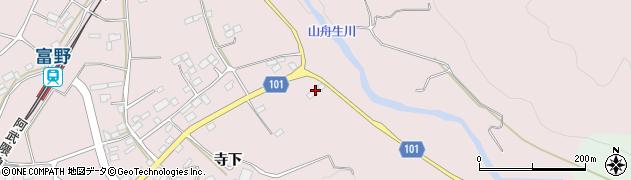 福島県伊達市梁川町舟生(寺ノ上)周辺の地図