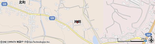 福島県伊達市梁川町東大枝(神明)周辺の地図
