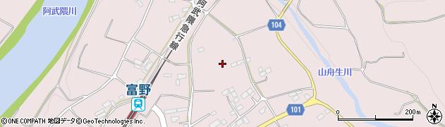 福島県伊達市梁川町舟生(松原)周辺の地図