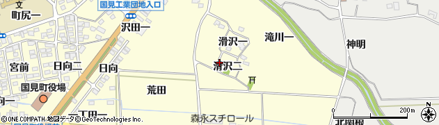 福島県伊達郡国見町藤田滑沢二周辺の地図