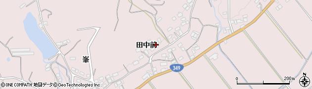 福島県伊達市梁川町五十沢(田中前)周辺の地図