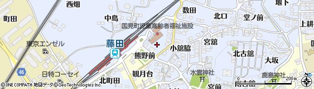 福島県伊達郡国見町山崎舘東周辺の地図