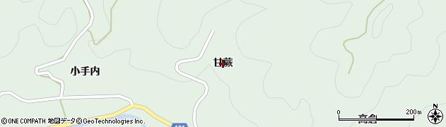 福島県伊達市梁川町山舟生(甘蕨)周辺の地図