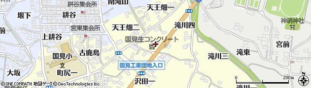 福島県伊達郡国見町藤田沢田三周辺の地図