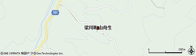 福島県伊達市梁川町山舟生周辺の地図