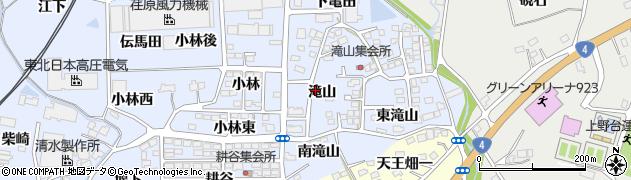 福島県伊達郡国見町山崎滝山周辺の地図