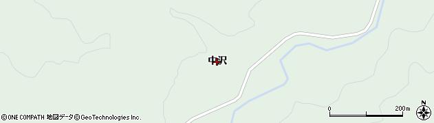 山形県米沢市簗沢(中沢)周辺の地図