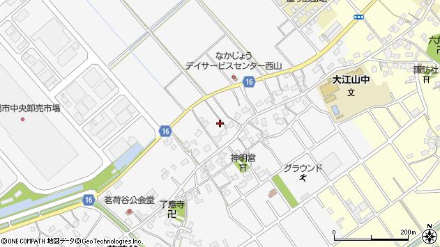 〒950-0113 新潟県新潟市江南区西山の地図