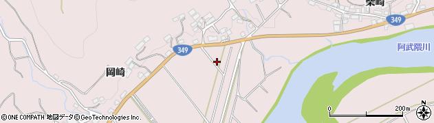 福島県伊達市梁川町五十沢(岡崎前)周辺の地図