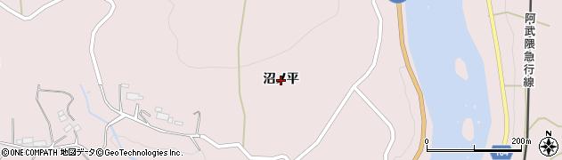 福島県伊達市梁川町五十沢(沼ノ平)周辺の地図