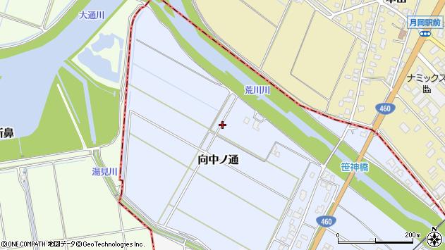 〒959-1910 新潟県阿賀野市向中ノ通の地図