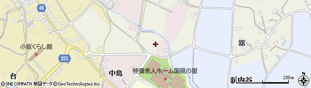 福島県伊達郡国見町鳥取皀莢沢周辺の地図