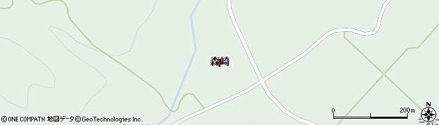 山形県米沢市簗沢(森崎)周辺の地図