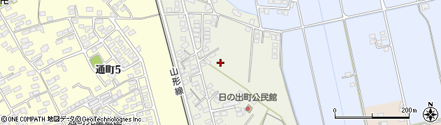 山形県米沢市東大通周辺の地図