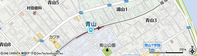 新潟県新潟市西区周辺の地図