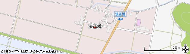 新潟県新発田市法正橋周辺の地図
