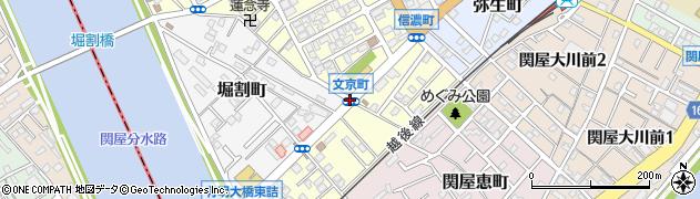 文京町周辺の地図