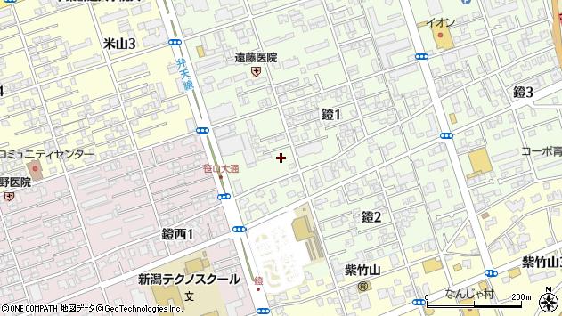 〒950-0913 新潟県新潟市中央区鐙の地図