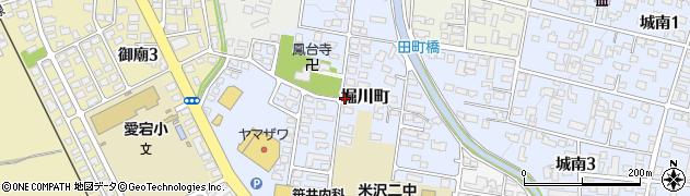 山形県米沢市堀川町周辺の地図
