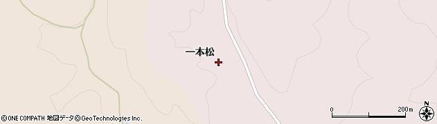 福島県伊達市梁川町五十沢(一本松)周辺の地図