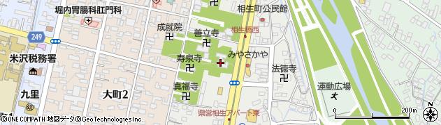 日朝寺周辺の地図