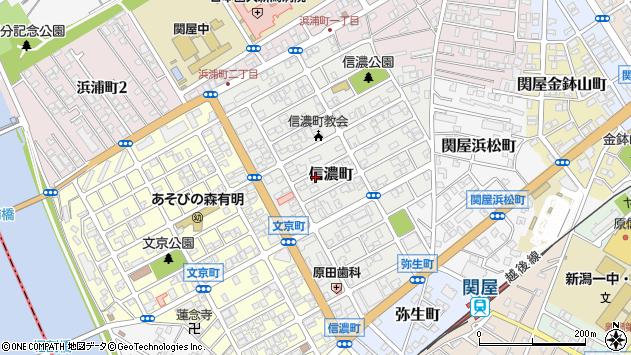 〒951-8152 新潟県新潟市中央区信濃町の地図