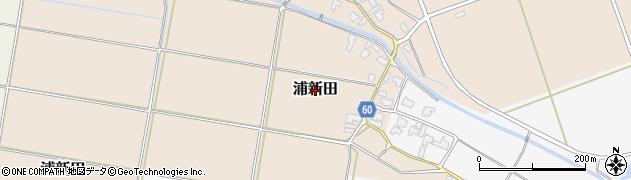 新潟県新発田市浦新田周辺の地図