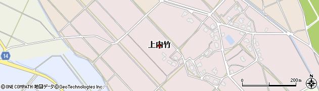 新潟県新発田市上内竹周辺の地図