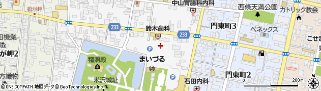 山形県米沢市丸の内周辺の地図