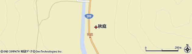 福島県福島市飯坂町茂庭(秋庭)周辺の地図