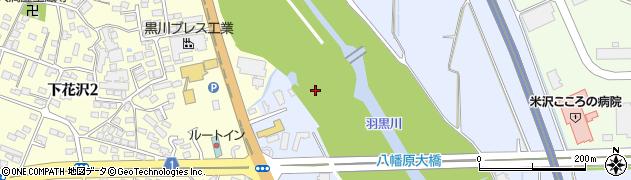 山形県米沢市万世町(片子字大下田)周辺の地図