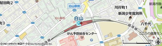 新潟県新潟市中央区周辺の地図