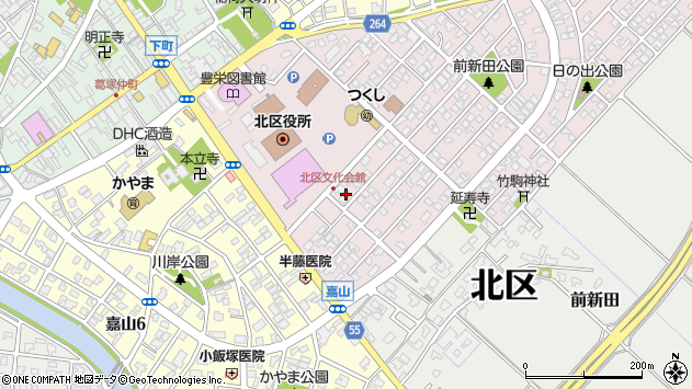 〒950-3323 新潟県新潟市北区東栄町の地図