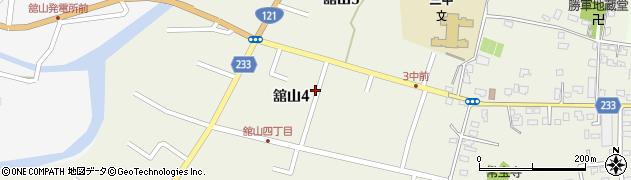 山形県米沢市舘山周辺の地図