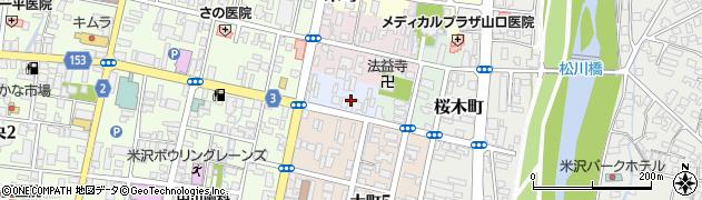 山形県米沢市立町周辺の地図