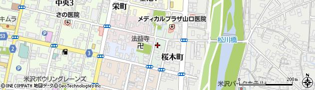 山形県米沢市川井小路周辺の地図