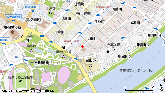 〒951-8067 新潟県新潟市中央区本町通の地図
