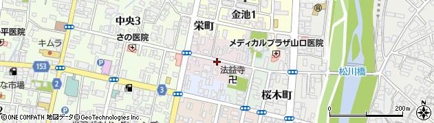 山形県米沢市鍛冶町周辺の地図